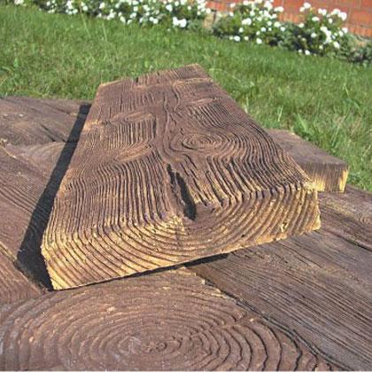 Betonowe drewno ogrodowe tarasów